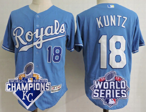Mens Rusty Kuntz Jersey Cheap Kansas City Royals Coach #18 Gray Road White Home Light Blue Navy Stitched Baseball Jerseys Size S, 4xl