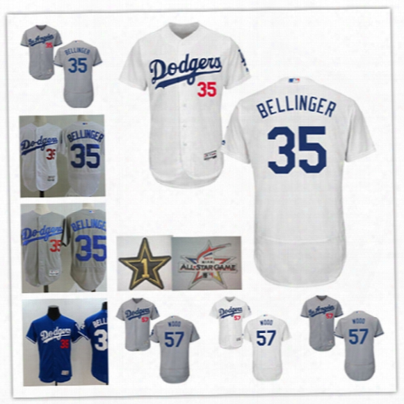 Mens Stitched Los Angeles Dodgers Alex Wood Flex Base Jerseys #35 Cody Bellinger L.a.dodge 2017 All Star Baseball Jersey S-3xl