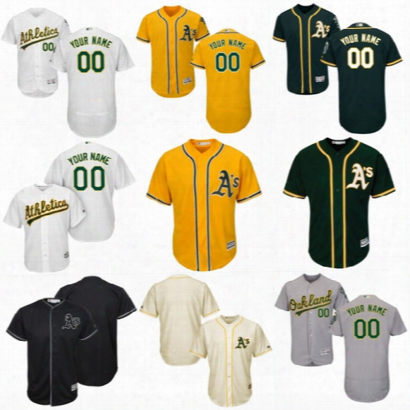 Mens Women S Youth Custom Oakland Athletics Jersey Personalized Authentic Collection Customized Stitched Embroidery Logos Baseball Jerseys