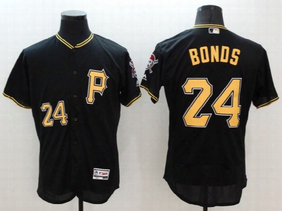 Mlb Pittsburg Pirates #24 Bonds 2016 New Black Men's Jerseys #21 Clemente Grey White Colors All Sizes