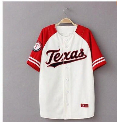 New 2015 Hba Skull Extended Bandana Hiphop Classic Mlb Patchwork Raglan Sleeve Short-sleeve T-shirt Sports Casual Baseball Shirt
