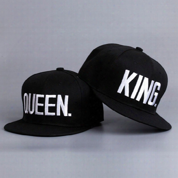 New 2017 Hot Sale King Queen Hip Hop Baseball Caps Canvas Letter Laps Lovers Snapback Sun Hat For Men Women