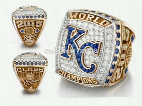 New Arrival 2015 2016 Mlb Kansas City Royals American League Championship Rings As Sport Men Ring For Fans Collect