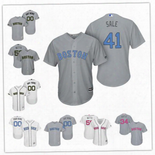 Personalize Cool Flex Base Boston Red Sox Custom Men Women Youth 2017 Memorial Father's Mother' S Day Jerseys 50 Mookie Betts 34 David Ortiz