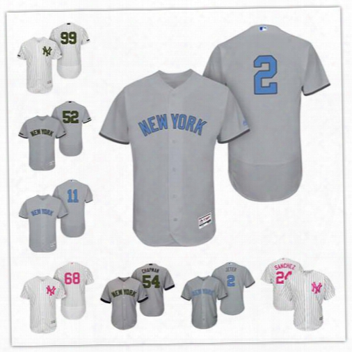 Personalize Cool Flexbase New York Yankees Custom Men Women Youth 2017 Memorial Father's Mother's Day Baseball Jerseys 99 Aaron Judge Jeter