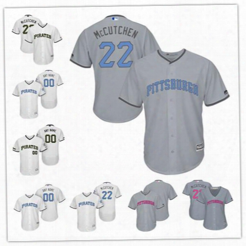 Personalize Cool Flex Base Pittsburgh Pirates Custom Men Women Youth 2017 Memorial Father's Mother's Day Jerseys 22 Andrew Mccutchen 45 Cole