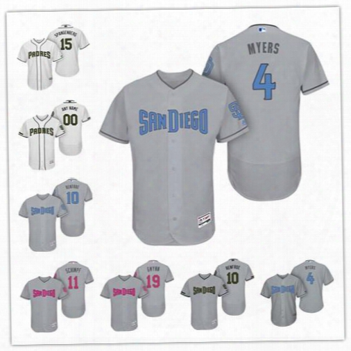 Persoalize Cool Flex Base San Diego Padres Custom Men Women Youth 2017 Memorial Father's Mother's Day Jerseys 4 Wil Myers 19 Tony Gwynn