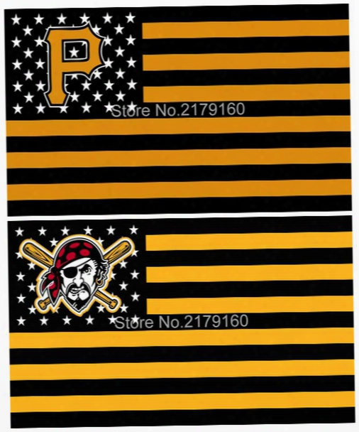 Pittsburgh Pirates Flag With Star And Stripe Baseball Sport 3x5 Ft Banner 100d Polyester Flying Flag Us Brass Grommets Free Shipping