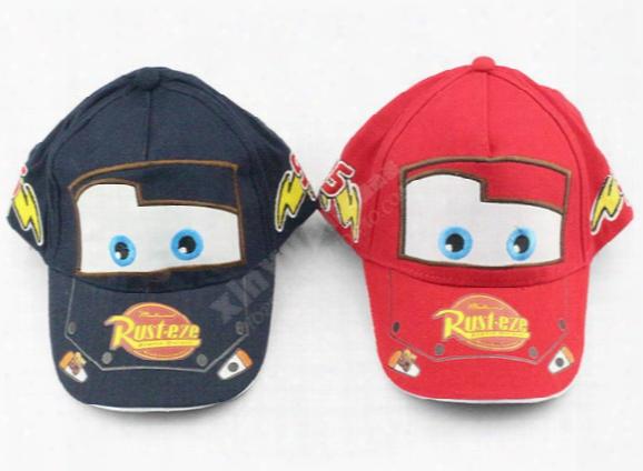 Pixar Cars Pixar Car Hat Kid Child Hats Baseball Cap Free Shipping Red And Blue Free Shipping
