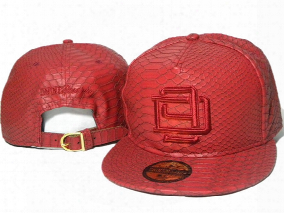 Red Leather Dnine D9 Reserve Street Hat Winter Warm Baseball Caps Adjustable Leather Snapback Strap Back Leather Snapbacks Hats Ddmy