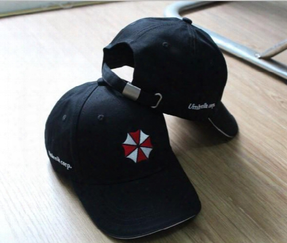 Resident Evil Biohazard Umbrella Corporation Logo Cap Uss Stars Bsaa Hat Adjustable Snapback Baseball Cap Military Cosplay Hat