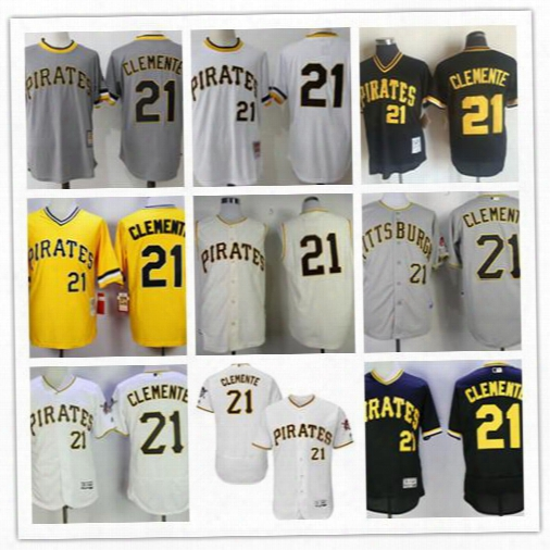 Roberto Clemente Jersey Men's Pittsbu Rgh Pirates 21 Roberto Clemente Black Mesh Batting Practice Throwback Jersey By Mitchell & Ness Jerseys