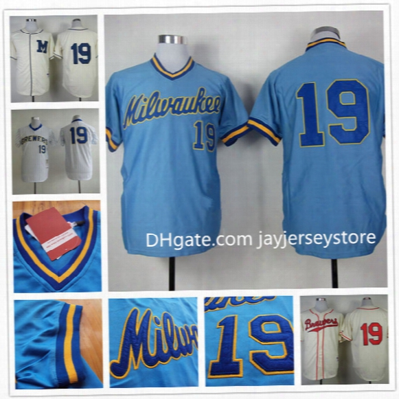 Robin Yount Jersey Flexbase Retro Stitched Milwaukee Brewers Throwback Jerseys White Blue Cream Pinstripe Home Away Cool Base