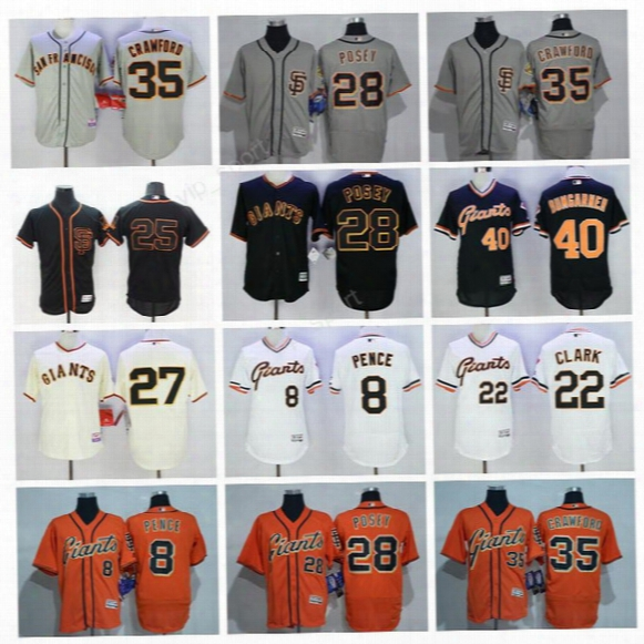 San Francisco Giants Jerseys Sf Baseball 28 Buster Posey 40 Madison Bumgarner 24 Willie Mays 25 Barry Bonds 22 Will Clark 8 Hunter Pence