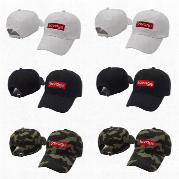 Savage Box Logo Dad Hat Kanye West Lit Palace Hat Drake Ovo Embroidered Baseball Cap Curved Bill 100% Cotton