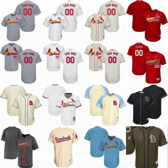 St Louis Cardinals Jerseys Mens Womens Youth Personalized Cardinals Authentic Collection Customized Stitched Baseball Jersey Mix Order
