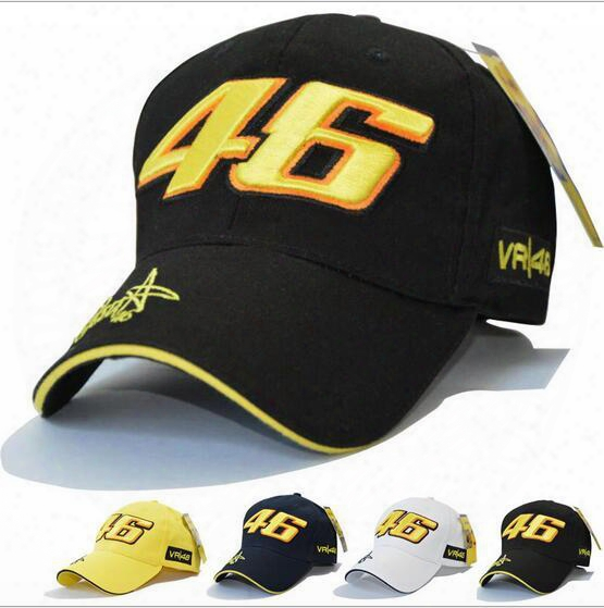 Star Rossi Signature Vr46 Digital Embroidery Baseball Cap Motorcycle Hat Racing Cap Sports Baseball Cap Hl016