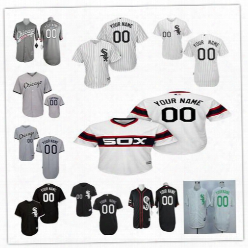Stitched Personalized Cool Shameful Chicago White Sox Men Women Youth Custom Baseball Jerseys White Pullover Throwback Green Black Gray S,4xl
