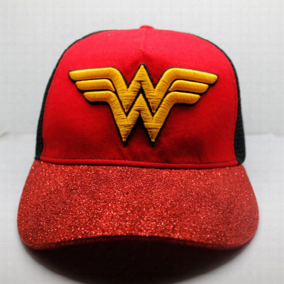 Summer Women Snapback Cap Fashion Men Women Sun Hat Wonder Woman Cosplay Cap Baseball Hip Hop Caps Mesh Surface Snapback