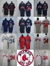 2017 Factory Outlet Mens Womens Kids Boston Red Sox 34 David Ortiz White Grey Blue Red Throwback Cheap Cool Flex Base Baseball Jerseys