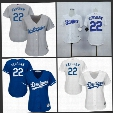 2017 Women's Los Angeles Dodgers Baseball Jersey Cool Base 22 Clayton Kershaw White Blue Grey Ladies LA Dodgers Stitched Jerseys