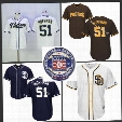 #51 Trevor Hoffman Jersey 2017 Hall Of Fame Induction San Diego Padres Jersey Trevor Hoffman Cool Base Stitched Embroidery Baseball Jersey