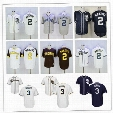 Coolbase 2017 San Diego Padres Authentic Jerseys 2 Johnny Manziel 3 Derek Norris Dark Blue Gray White Blank Mens Baseball Jersey Cheap