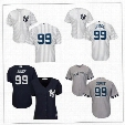 Embroipdered New York Yankees Womens Youth White Gray #99 Aaron Judge Navy Blue Cheap No name on back Cool Base Baseball Jerseys