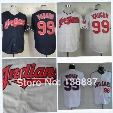 Factory Outlet Cleveland Indians 2017 world series Rick Vaughn Mother day Throwback Navy blue Red Grey White Pink Cool Flex Baseball Jerseys