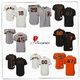 Men San Francisco Giants Flex Base 40 Madison Bumgarner Gray 18 Matt Cain Black 47 Johnny Cueto Cream 45 Matt Moore Orange Baseball Jersey