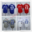 New Design Mens Toronto Blue Jays 17 Ryan Goins Baseball Jerseys Alternate Throwback 100% Stittched Logo