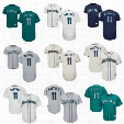 Wholesale #11 Edgar Martinez 2017 Seattle Mariners Jersey Flexbase Cool Base All Stitched Embroidery Baseball Jerseys Free Shipping