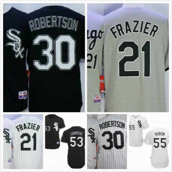 Todd Frazier Jersey 21 David Robertson 30 Melky Cabrera 53 Carlos Rodon 55 Mens Chicago White Sox Baseball Jersey Stitched Cool Base S-3xl