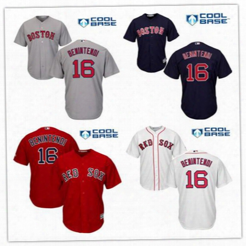 Top Quality Andrew Benintendi Mlb Jerseys Men's Boston Red Sox #16 Andrew Benintendi Gray Road Stitched Mlb Majestic Cool Base Jersey
