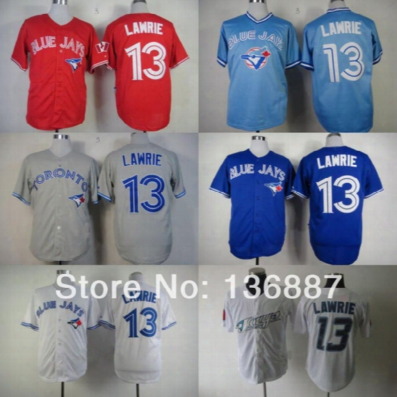 Toronto Blue Jays #13 Brett Lawrie,authentic Baseball Jerseys,2016 New Style Wholesale Cool Base Cheap Jersey,embroidery Logos