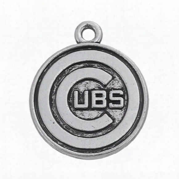 Vintage 50pcs/ A Lot Zinc Alloy Metal Plating Rounded Ubs Chicago Mlb Team Logo Charms For Jewelry Making