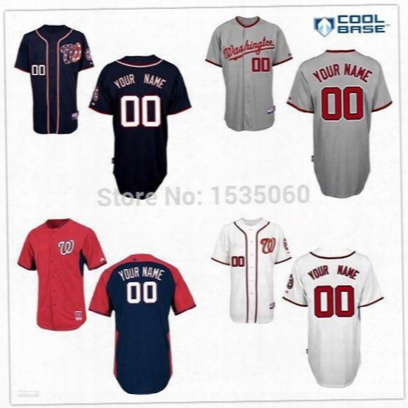 Washington Nationals Mens Womens Youth Jerseys Custom Mlb Jerseys Kids Baseball Jersey Personalized Cheap Customized 100% Stitched Xs-5xl