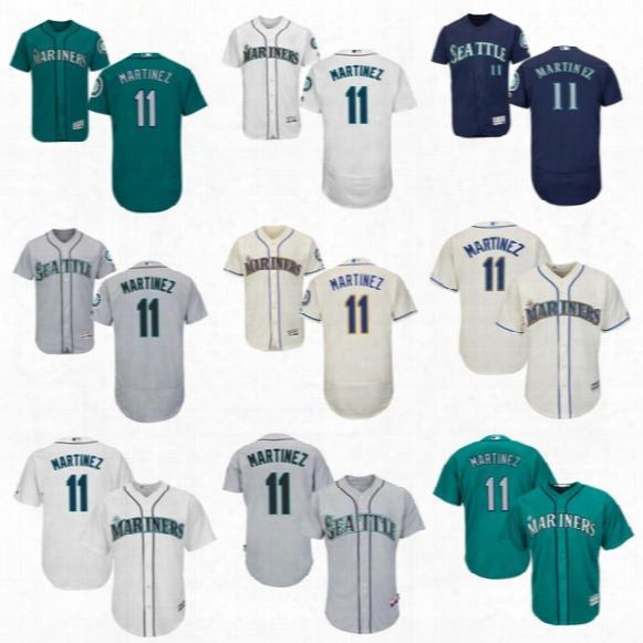 Wholesale #11 Edgar Martinez 2017 Seattle Mariners Jersey Flexbase Cool Base All Stitched Embroidery Baseball Jerseys Free Shipping