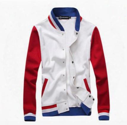 Wholesale-2015 New Hot Wholesale Men's Hoodies,sweatshirts Baseball Jackets Cheap Wholesale Men's Sizes M-2xl 100% Quality