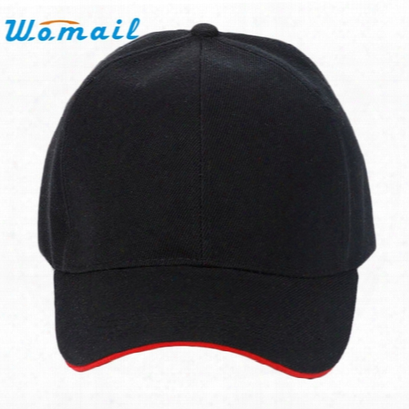 Wholesale- 2017 Hot Sale New Fashion Unisex Plain Baseball Cap Blank Curved Visor Hat Solid Color Adjust 17mar10 Send In Two Days