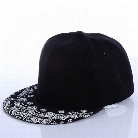 Wholesale- Baseball Cap - New Arrival Cashew Flower Hat Tide Male Hip-hop Flat Along The Cap Baseball Cap Hip-hop Hat Stage #1857668