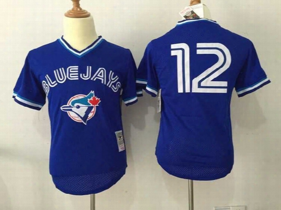 Wholesale Cheap Mens Womens Kids Best Quality Toronto Blue Jays 12 Roberto Alomar White Grey Blue Red Cool Base Flex Base Baseball Jerseys