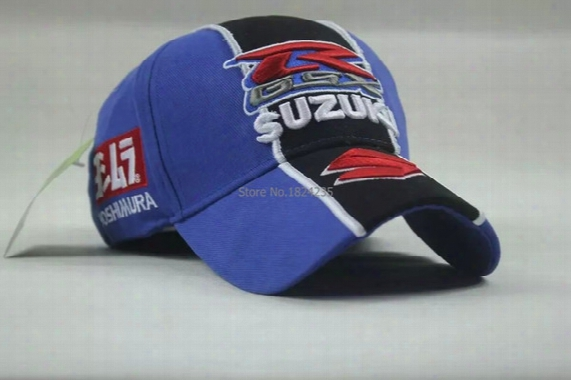 Wholesale-f1 Racing Car Team New Suzuki Embroidery Cotton Sports Baseball Cap Wholesale Hat