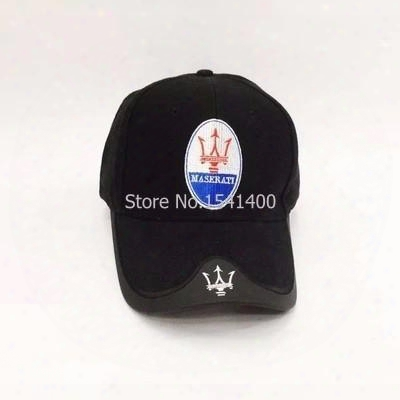 Wholesale- For Men And Women Maserati Baseball Cap Motorcycle Embroidery Vw Caps Casual Hats