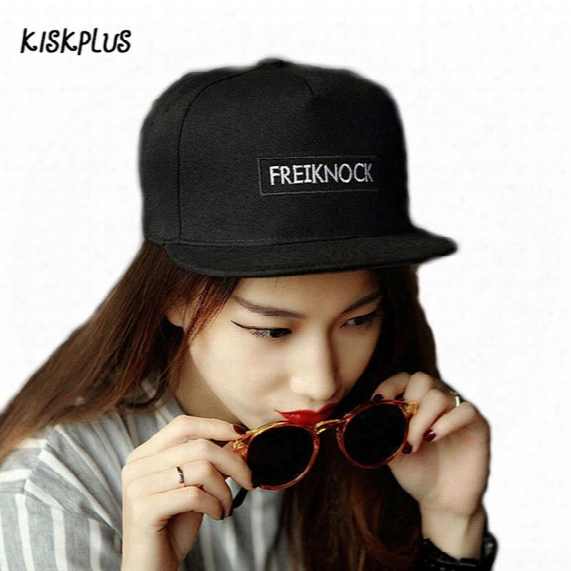 Wholesale- Kiskplus 2017spring And Summer The New Fashion Women Simple Comfortable Hip Hop Embroidery Black Baseball Cap #1830855