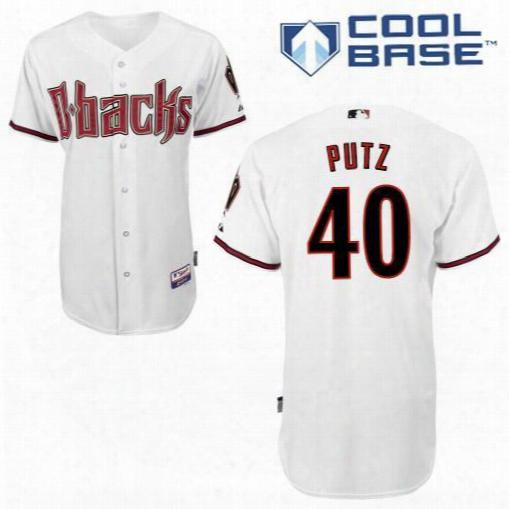 Wholesale Men's Arizona Diamondbacks #40 J.j. Putz Red Cool Base Baseball Jerseys