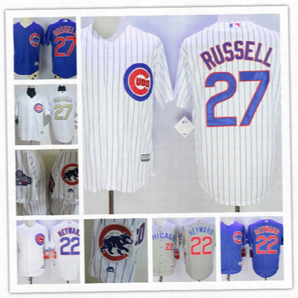 Youth Chicago Cubs Jason Heyward 2017 Whkte Gold Program Players Baseball Jersey Stitched Kids Addison Russell Cubs Cool Base Jersey S-xxl