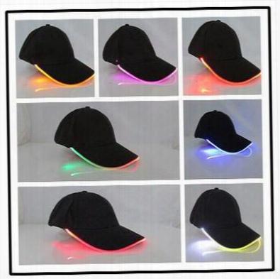 16 Colors Newest Baseball Hats Led Luminous Party Cap Unisex Hockey Snapback Basketball Ball Caps Unisex Fiber Optic Hat Cca6550 100pcs