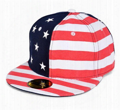 2015 New Unisex Fashion Hip Hop Star American Flag Cap Usa Baseball Cap Snapback Hats For Men And Women Striped Hat Men Ht042
