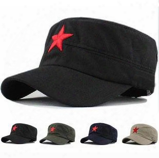 2016 Fashion Military Caps Summer Embroidery Red Star Baseball Cap Hat For Men Women Adjustable Outdoor Retro Snapback Hats Gift